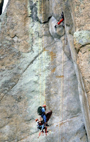 a photo of the rescue of an injured climber