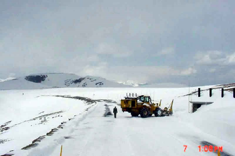 a photo of a snow plow at Rock Cut