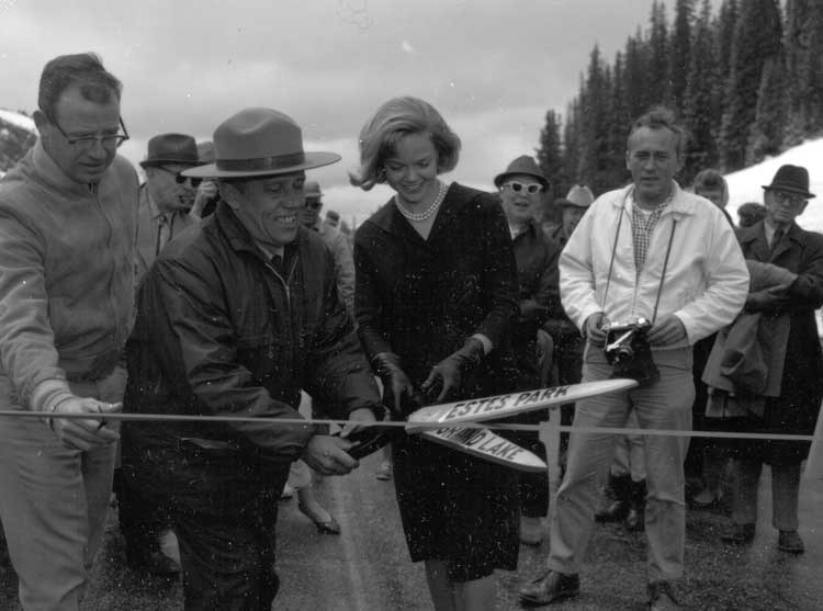 a photo of 1964 opening of Trail Ridge