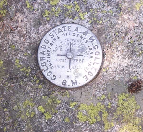 a photo of an elevation marker