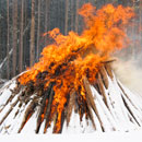 Winter pile burning