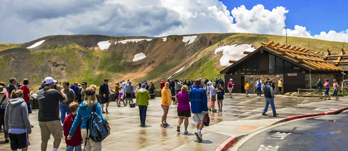 Visitors at Alpine Visitor Center
