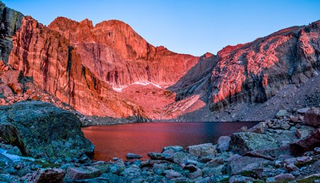 Chasm Lake cirque below Longs Peak