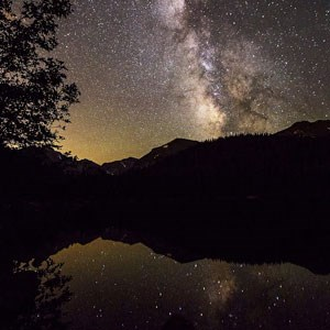 Milky Way above Bear Lake