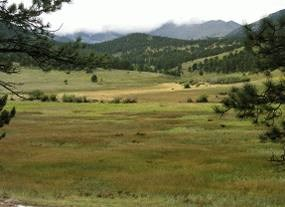 Photo scenic view of beaver meadows