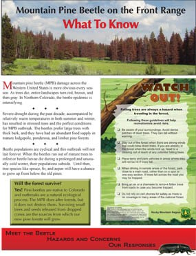 Photo page one Mountain Pine Beetle Brochure