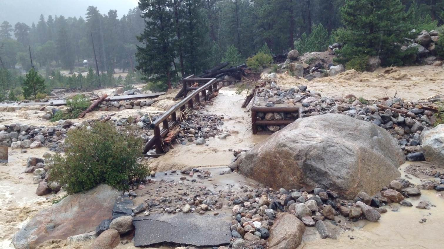 Work begins on alluvial fan trail in rocky mountain national park contact the park sciox Image collections