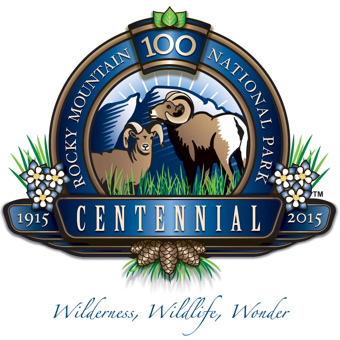 Rocky Mountain National Park Centennial Logo