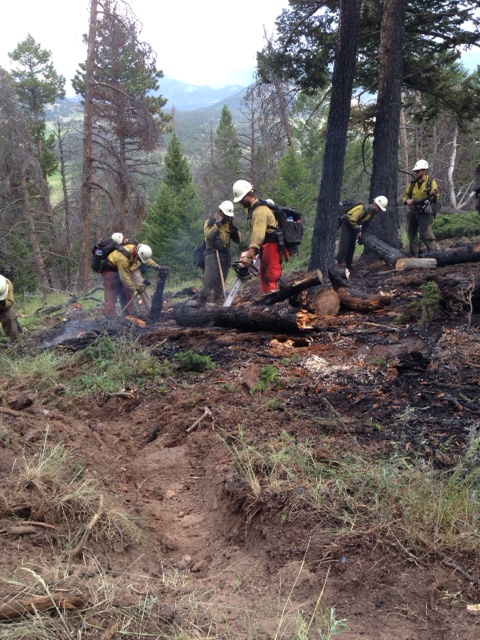 Ground crews fight lightning caused fire on Beaver Mountain in RMNP
