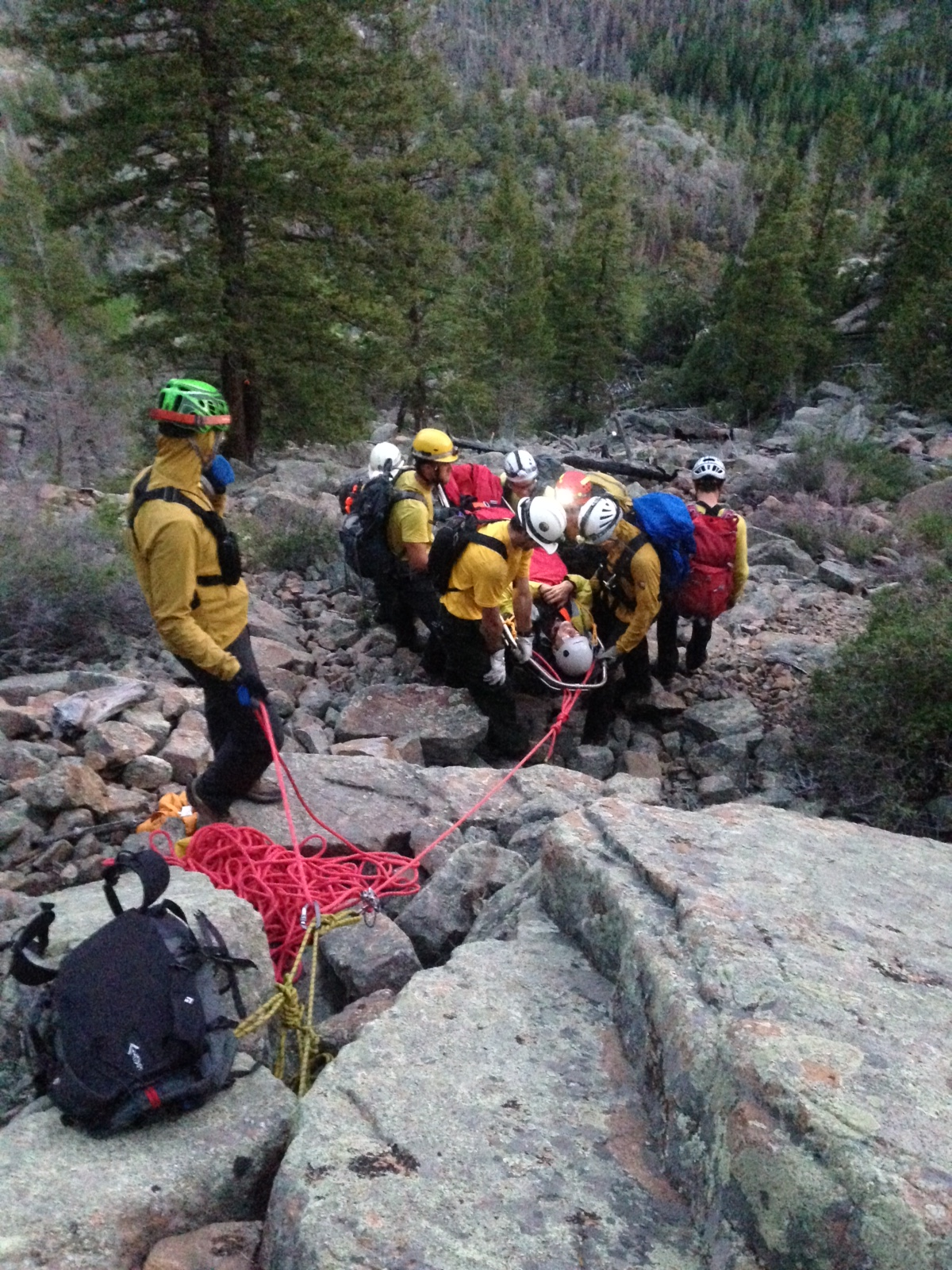 Rescue In Steep Terrain Near Fern Lake Trail