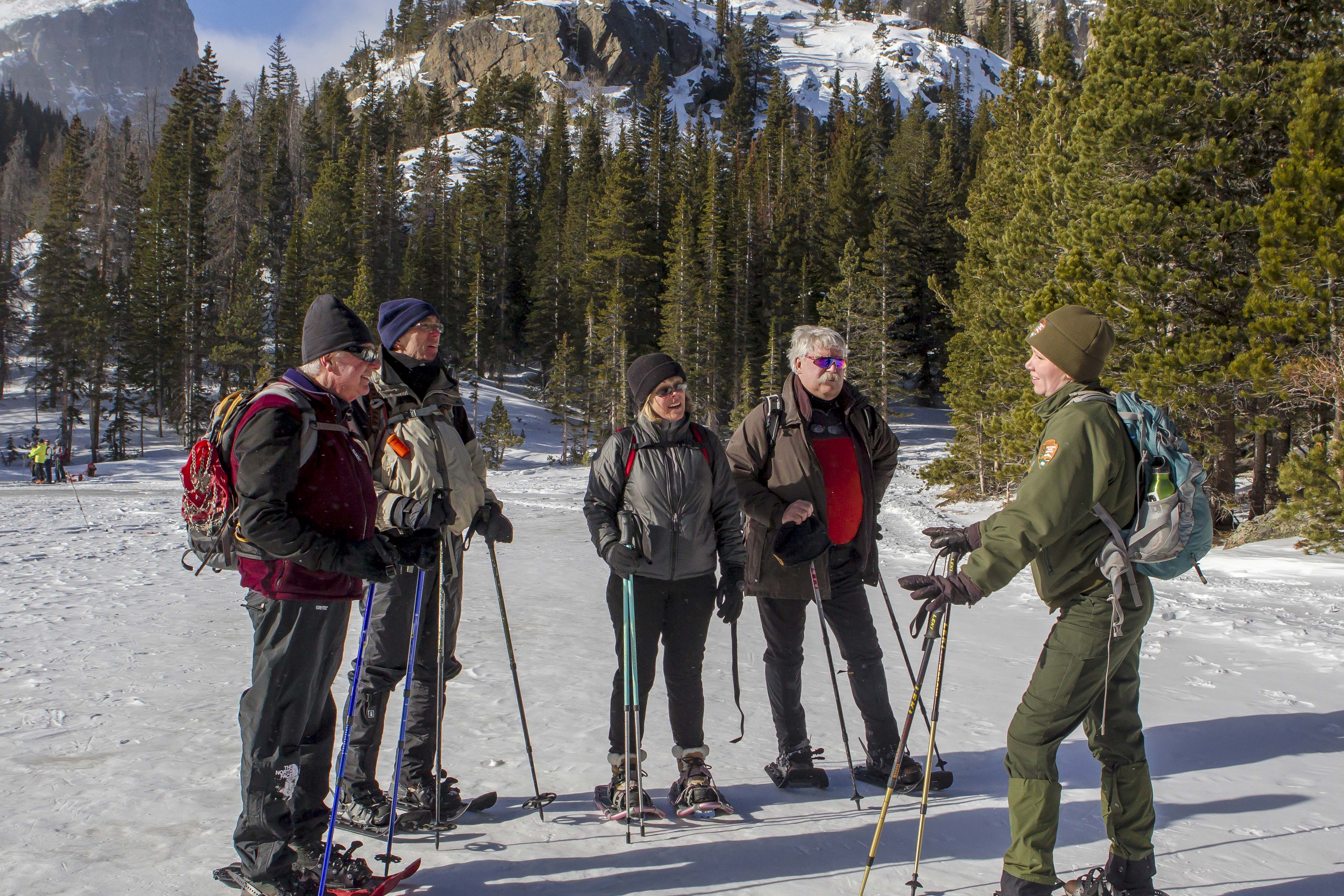 Ranger-led snowshoe program