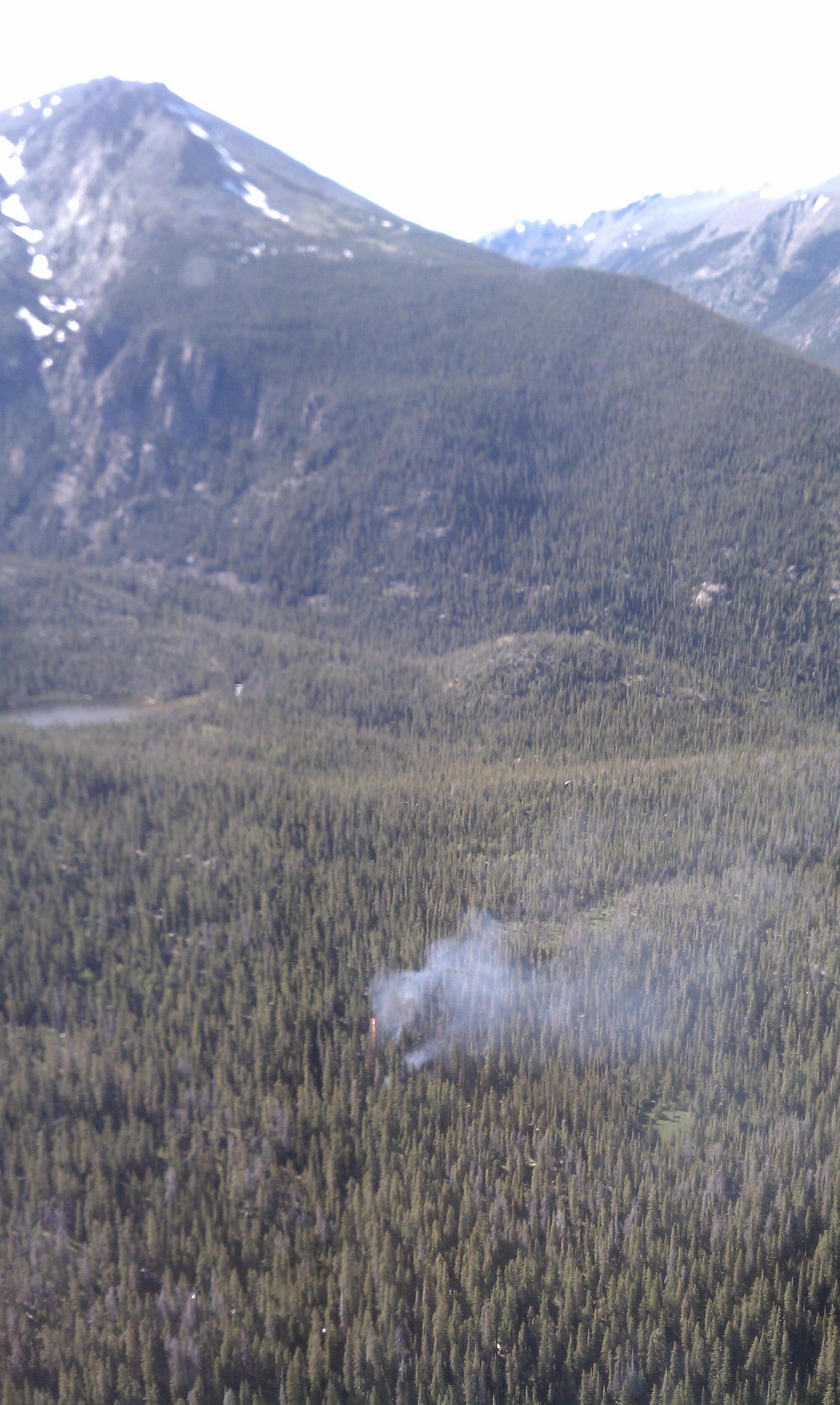 Spruce Fire in backcountry of Rocky Mountain National Park