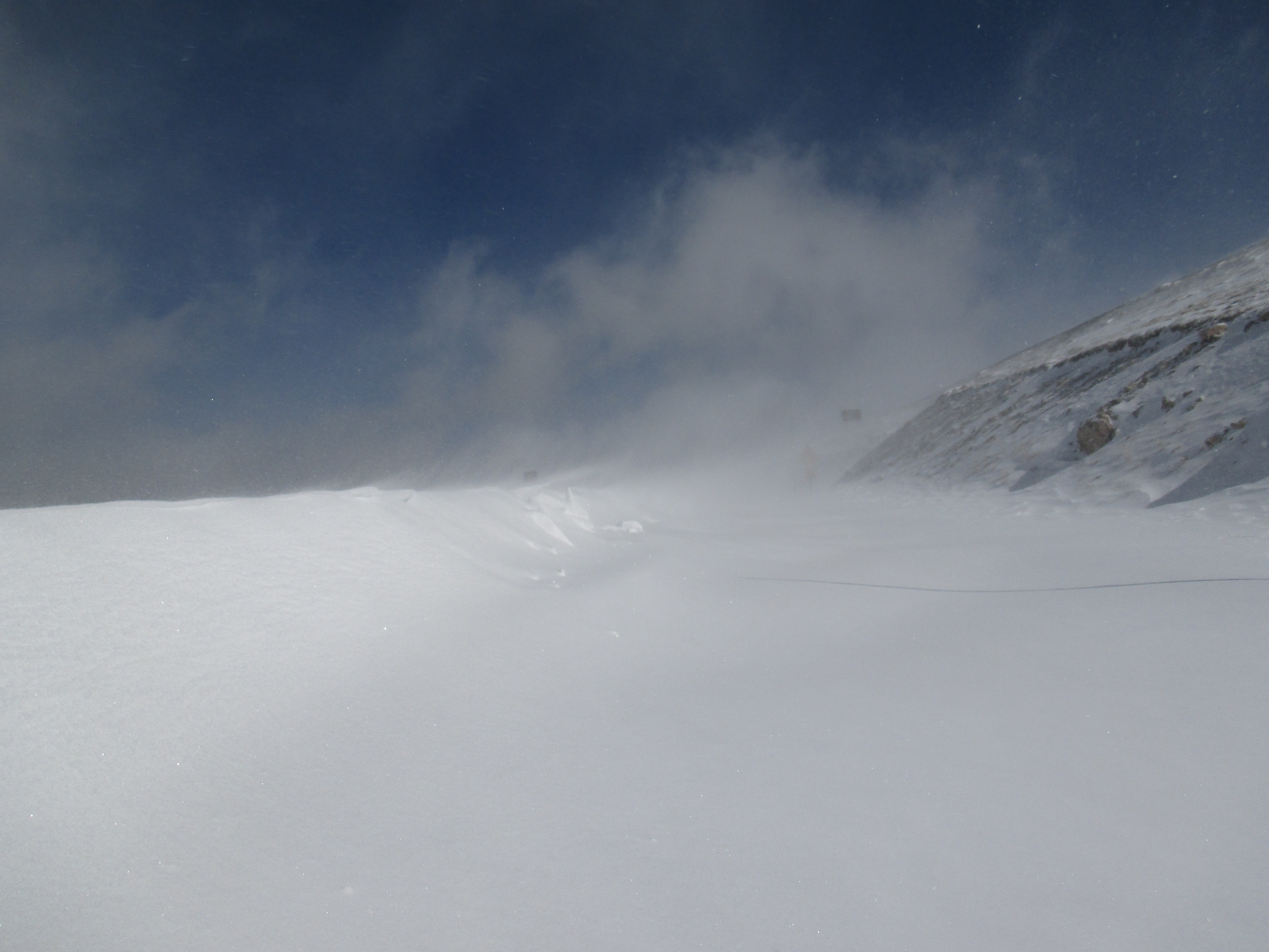 Trail Ridge Road Near Medicine Bow Curve on October 18, 2013  - 6 to 8 foot drifts