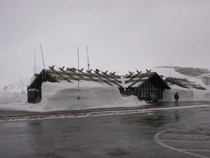 Photo-snow at Alpine Visitor Center