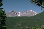 Photo clear air quality day of Longs Peak and Mount Meeker