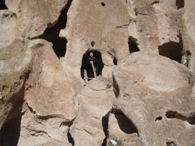 Photo Ranger Chelsea at Bandelier National Monument