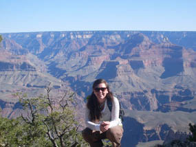 Ranger Chelsea at the Grand Canyon
