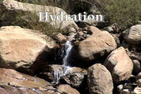 Photo running stream and Hydration logo