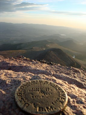 The view from the summit of Longs Peak.