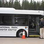 Most Park Shuttle Buses are accessible