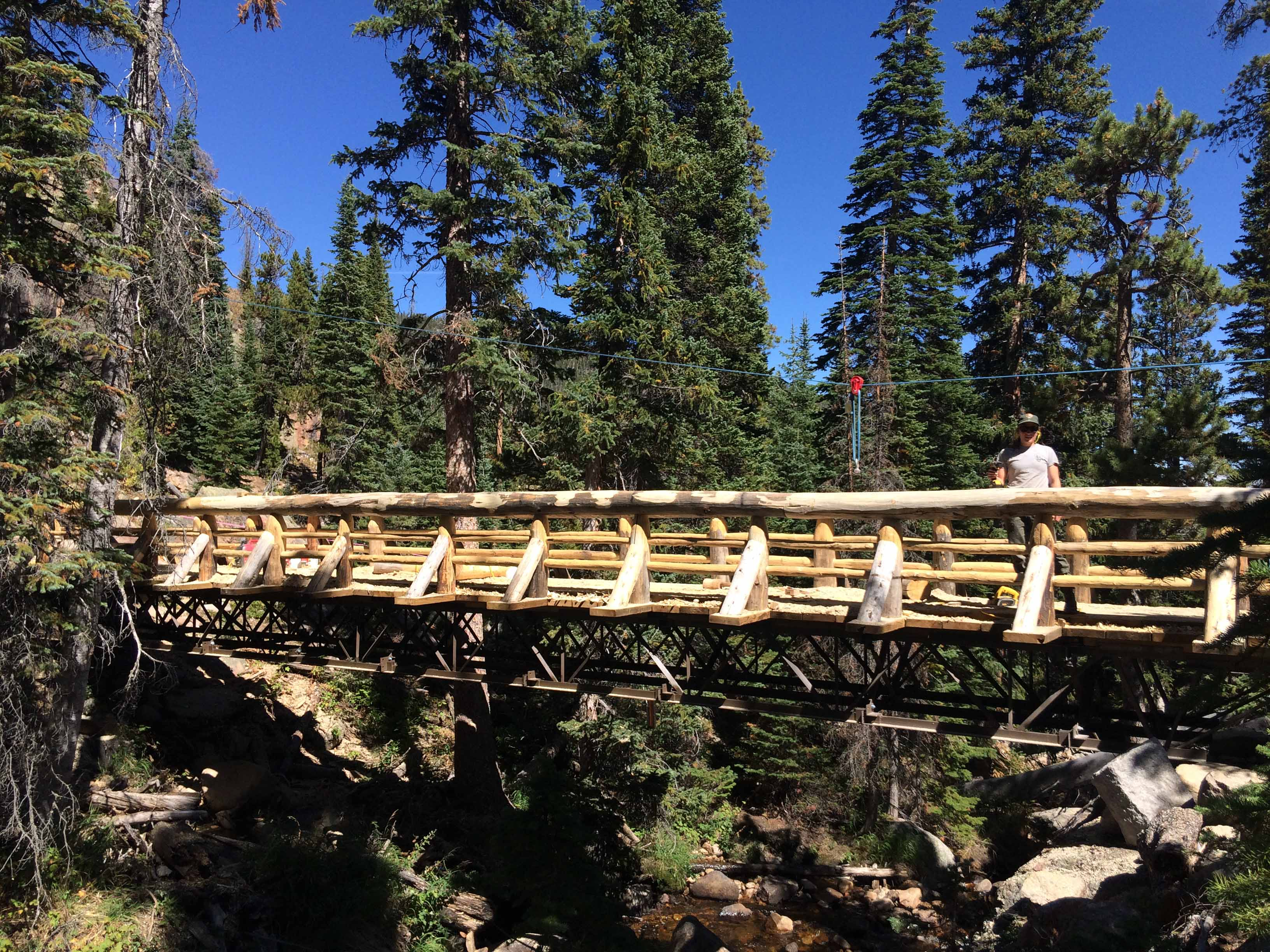 Ouzel Falls bridge completed early in the fall of 2015.