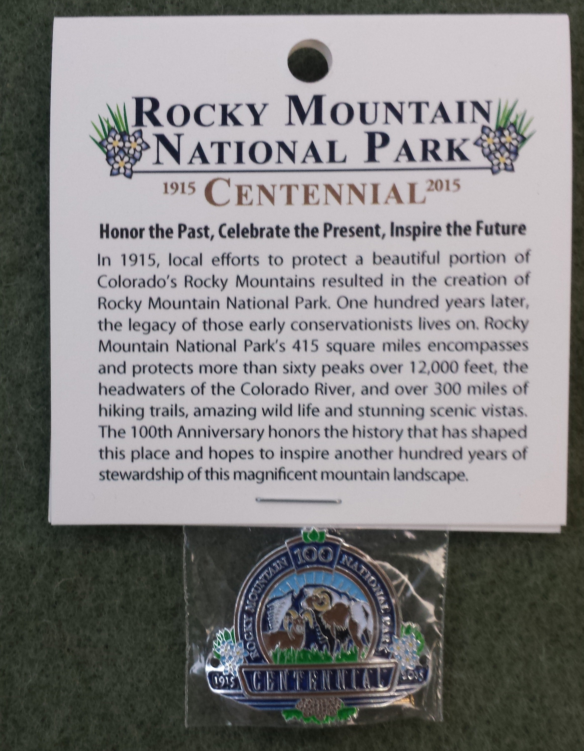 386711b9786 100th Anniversary Products - Rocky Mountain National Park (U.S. ...