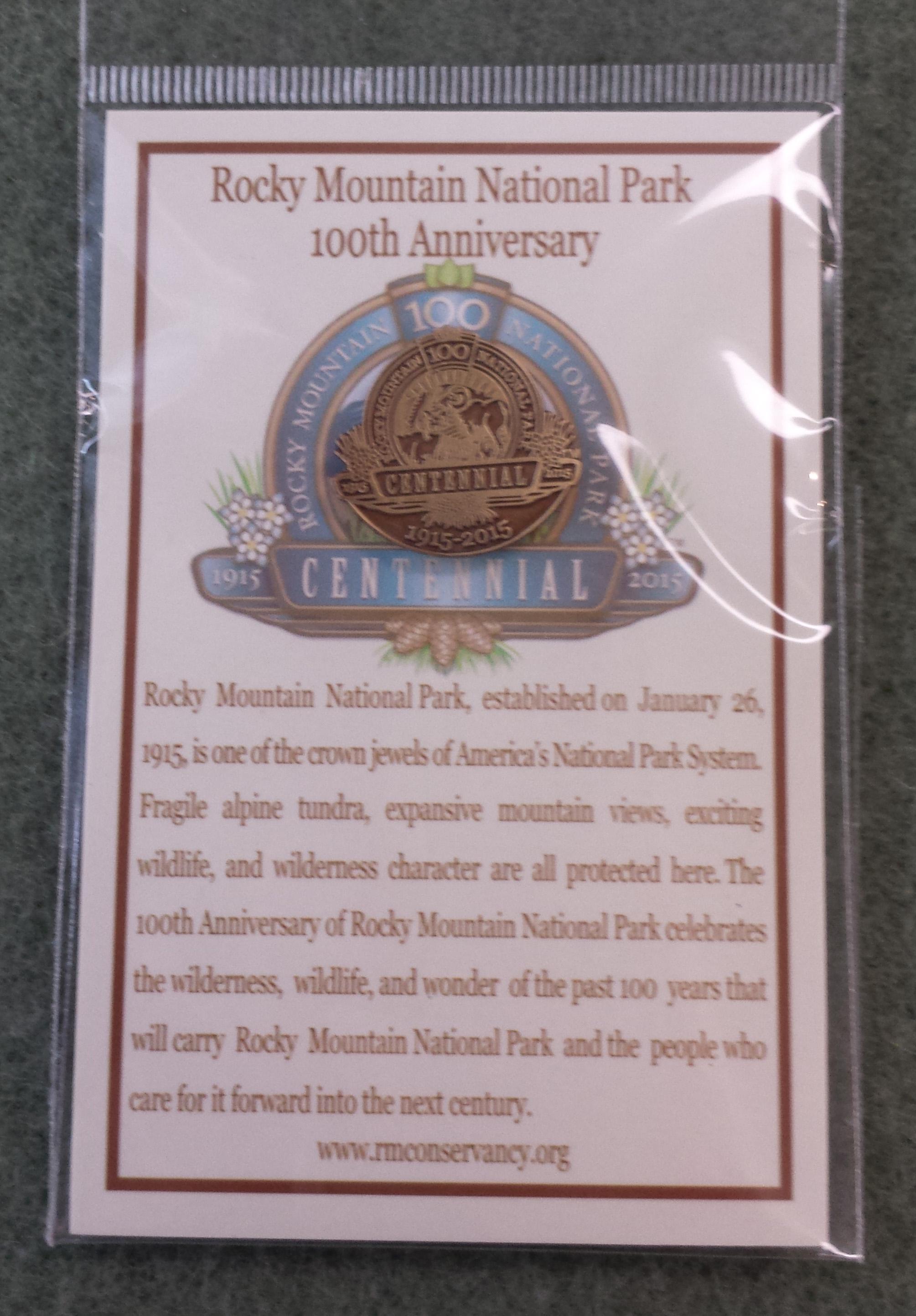 Colorado Rocky Mountain National Park Walking Hiking Stick Medallion