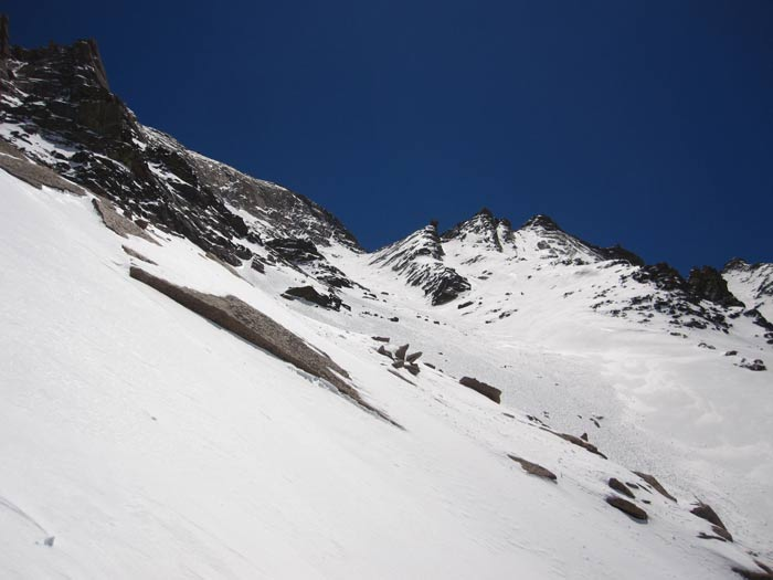 This is an image of the Trough on Longs Peak on May 11, 2013.