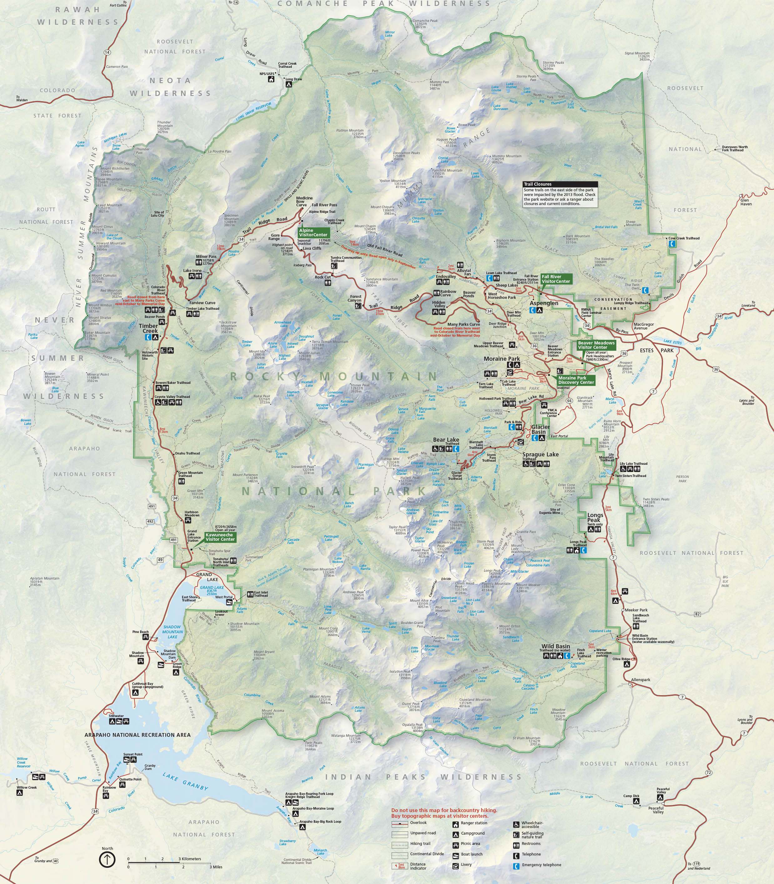 Map Of Rocky Mountain National Park Brochures   Rocky Mountain National Park (U.S. National Park Service)