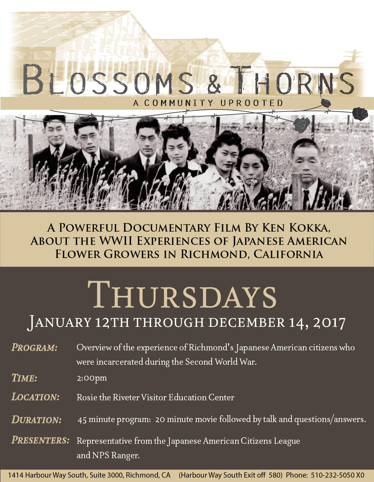 Blossoms and Thorns 2017 Flier