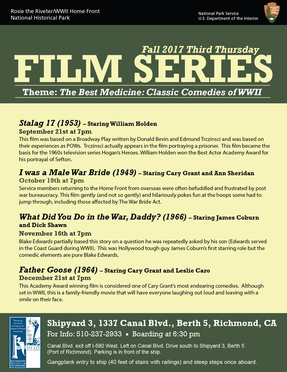 Text only Flyer for Third Thursday Film Series.