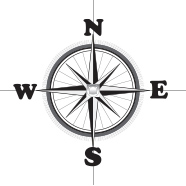 Illustration of a compass.