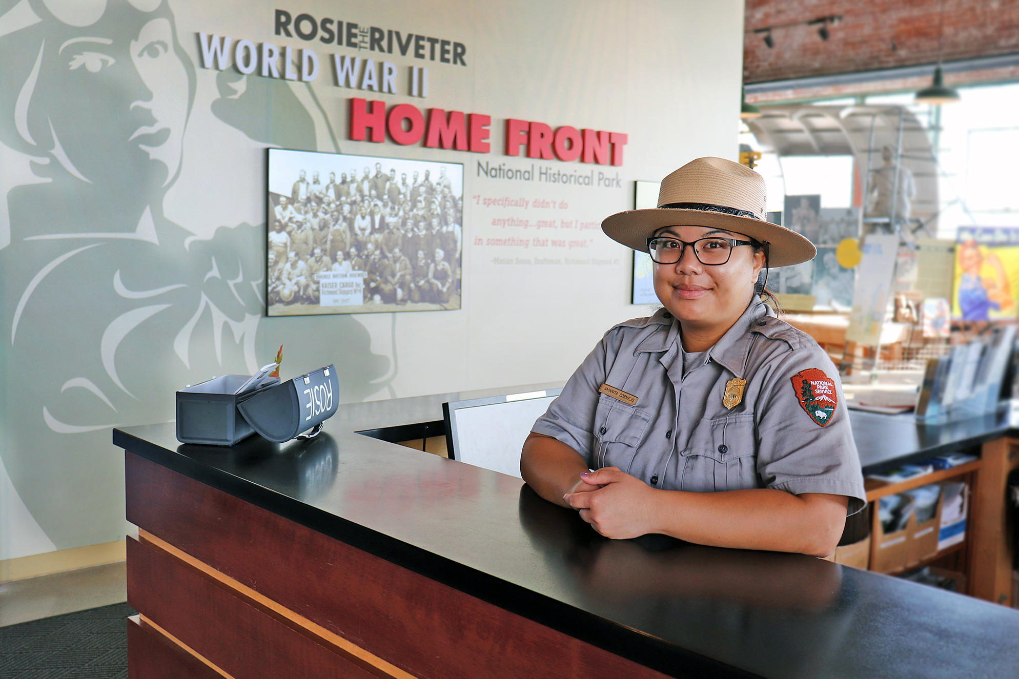 Ranger Amanita at Front Desk