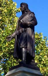 Staute of Roger Williams, seen at Roger Williams Park and Zoo