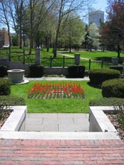 Hahn Memorial and Roger Williams Spring at Memorial