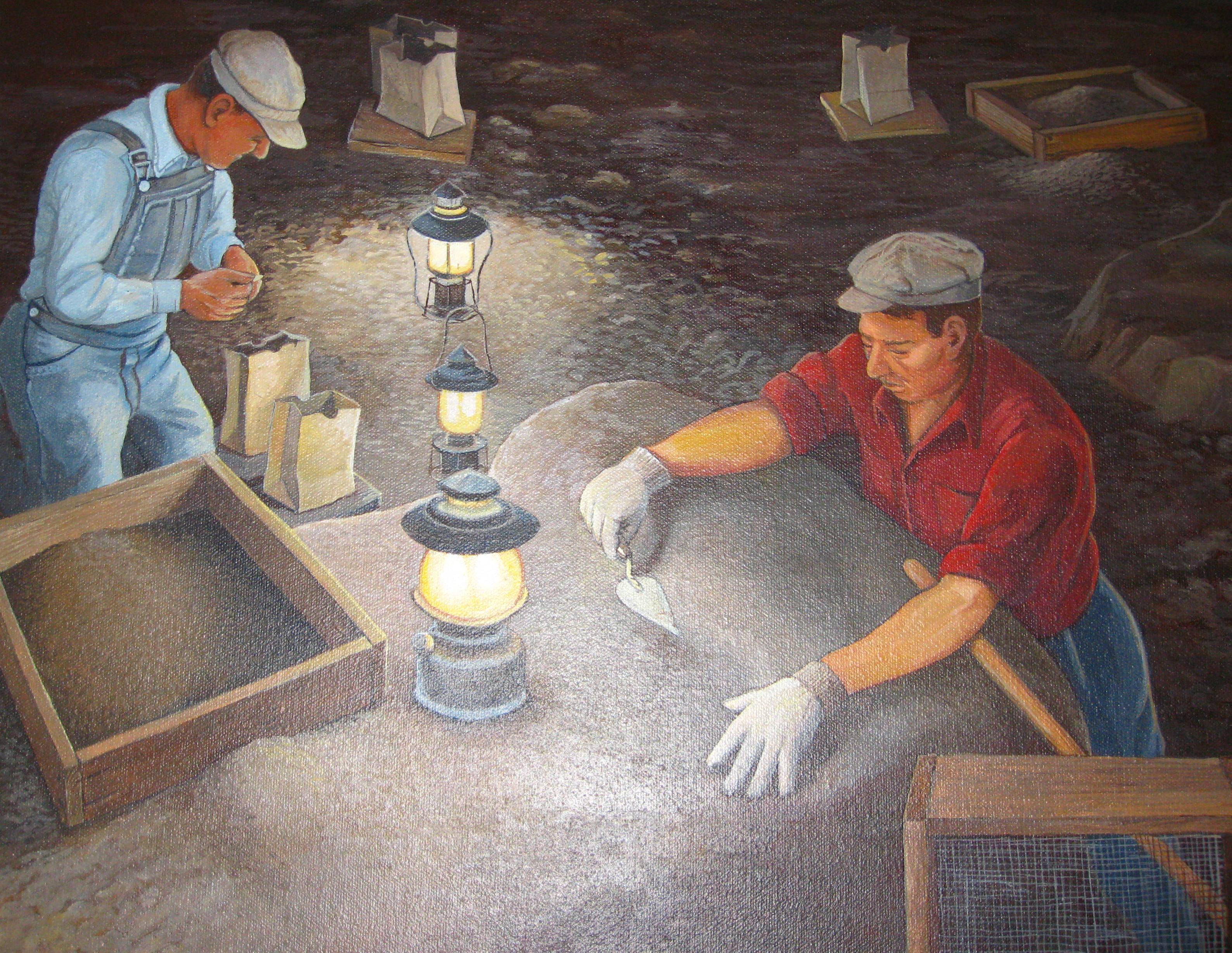Artist Painting of the 1960's Excavation