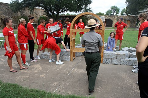 Group volunteers at Archaeology Day at San Antonio Missions