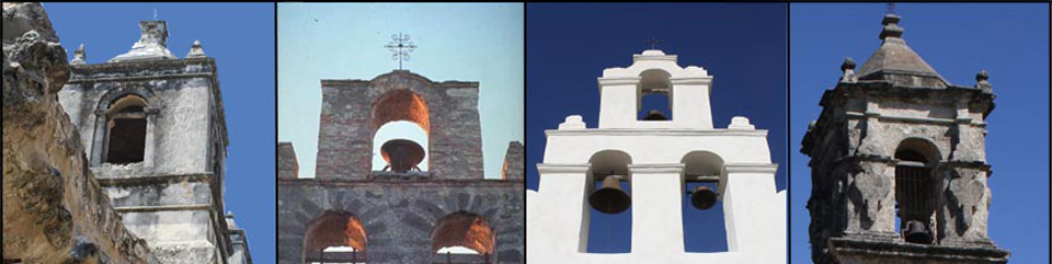 The bell towers of the four mission churches