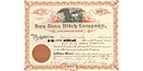 Fr. Bouchu sold one share of the San Juan Ditch Company in 1906 for $10.00.