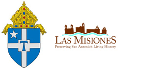 Logos for San Antonio Archdiocese and Old Spanish Missions