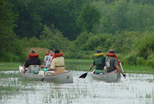 Canoes on the Namekagon River