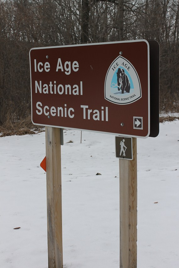 A trailhead sign for the Ice Age Trail is seen in this image. (NPS photo)