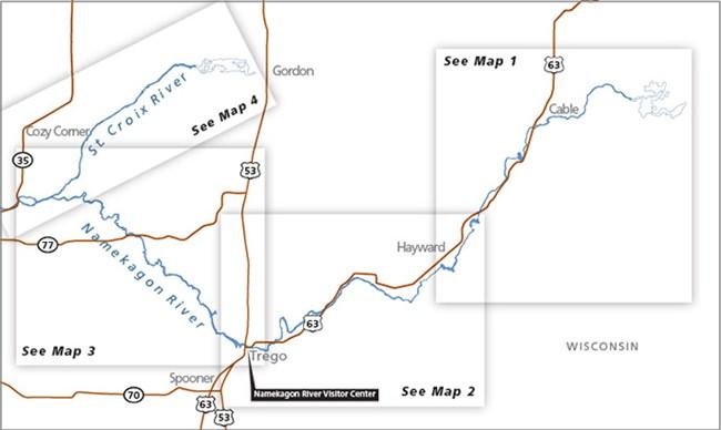 Maps Saint Croix National Scenic Riverway U S National Park Service