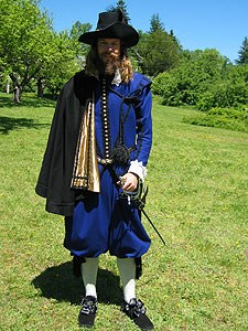 Man dressed in historic French costume