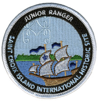 Patch with ship and junior ranger text