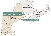 Locator map of New England