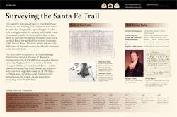"thumbnail of the exhibit panel ""Surveying the Santa Fe Trail"""