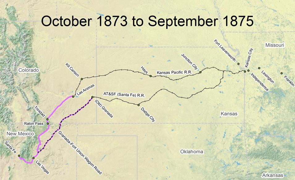 Travel The Trail Map Timeline Santa Fe National - Us safe travel map gov