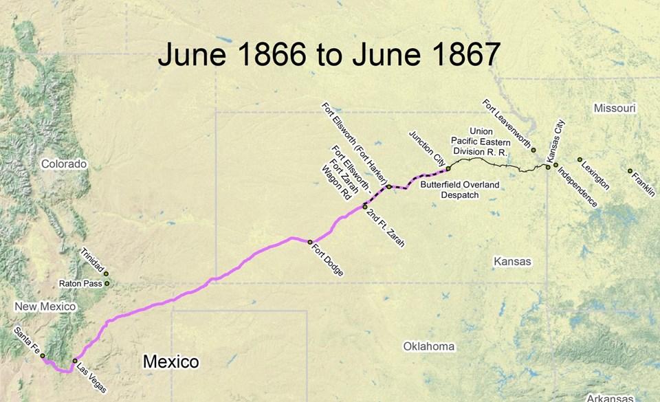 Travel The Trail Map Timeline Santa Fe National - Us timeline map