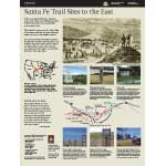 Thumbnail of exhibit about Santa Fe Trail sites east of Dodge City Ruts